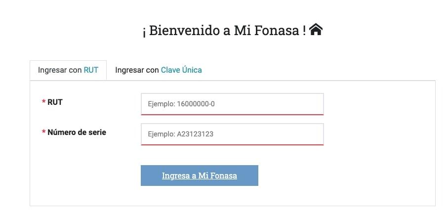 Tramitar certificado de Fonasa en línea