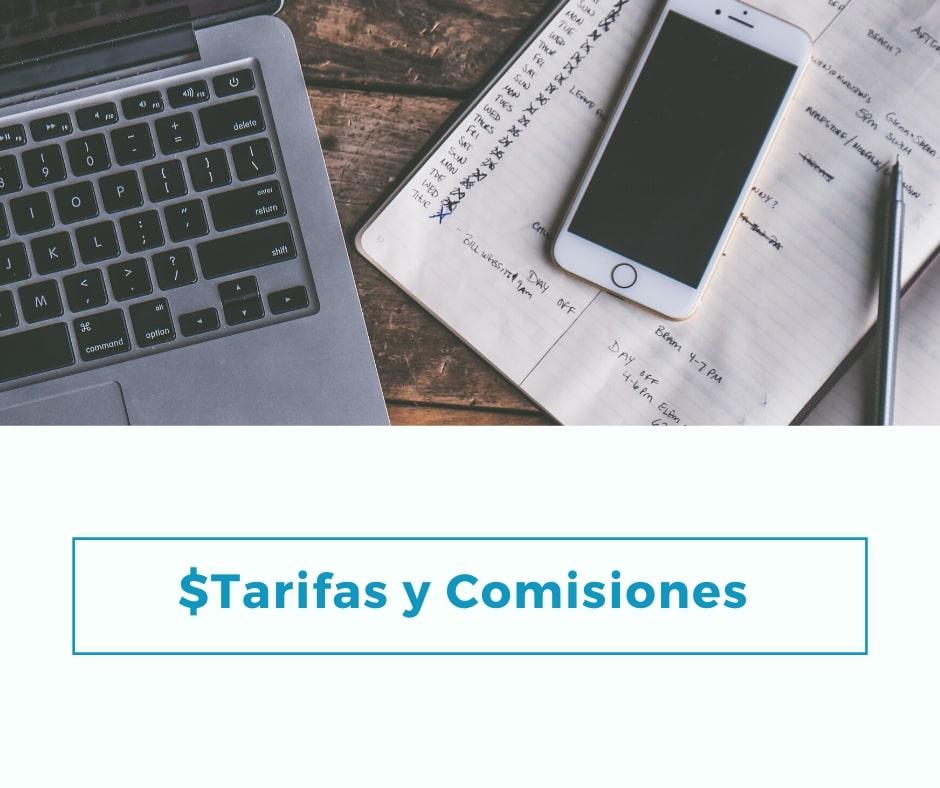 Tarifas y Comisiones de cuenta rut